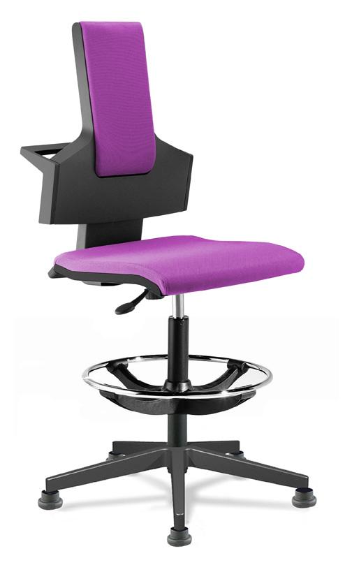 Chaise ergonomique Coque Noire PUSKA