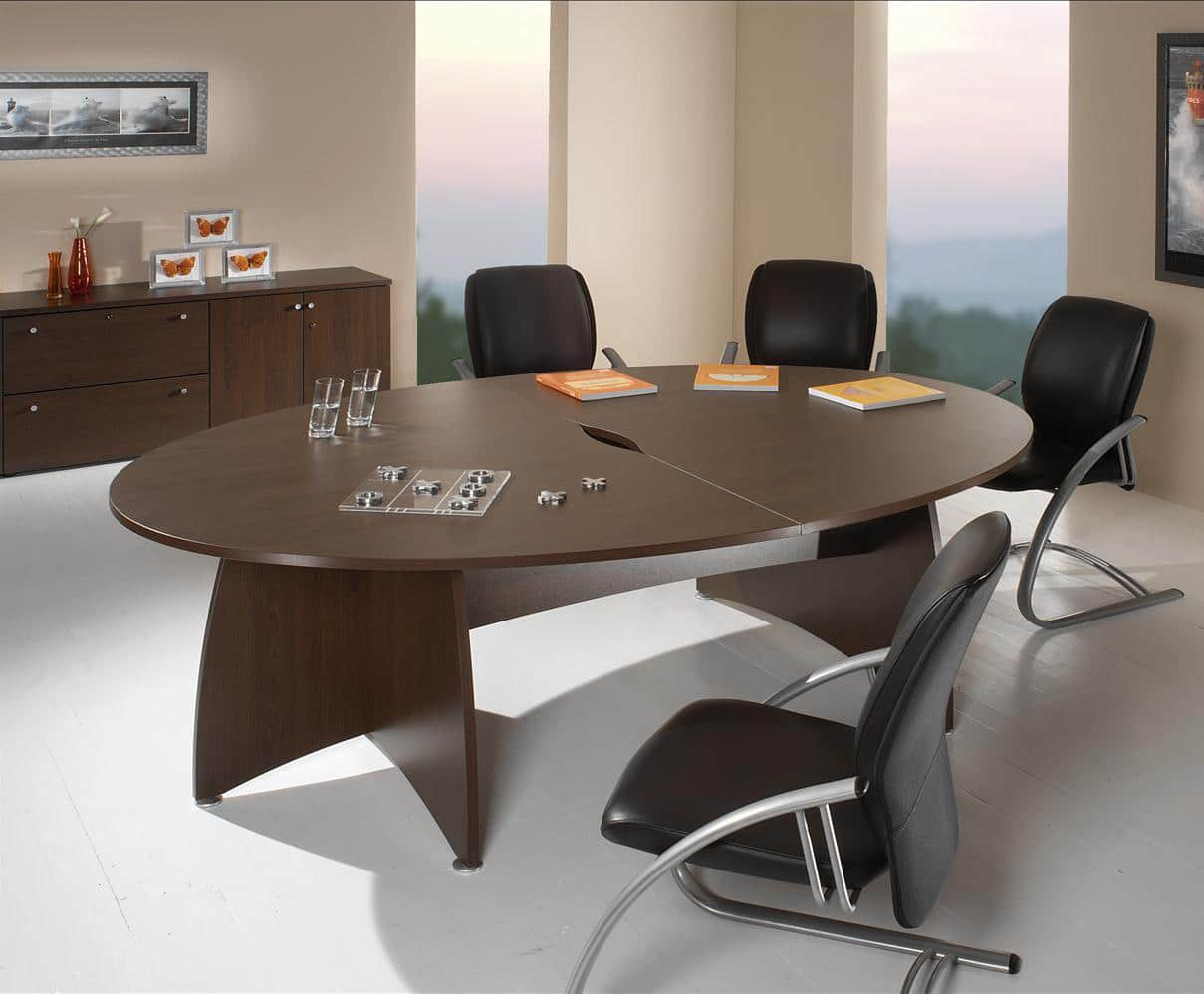 Table de reunion ovale elancia 2m mobilier bureau for Table bureau