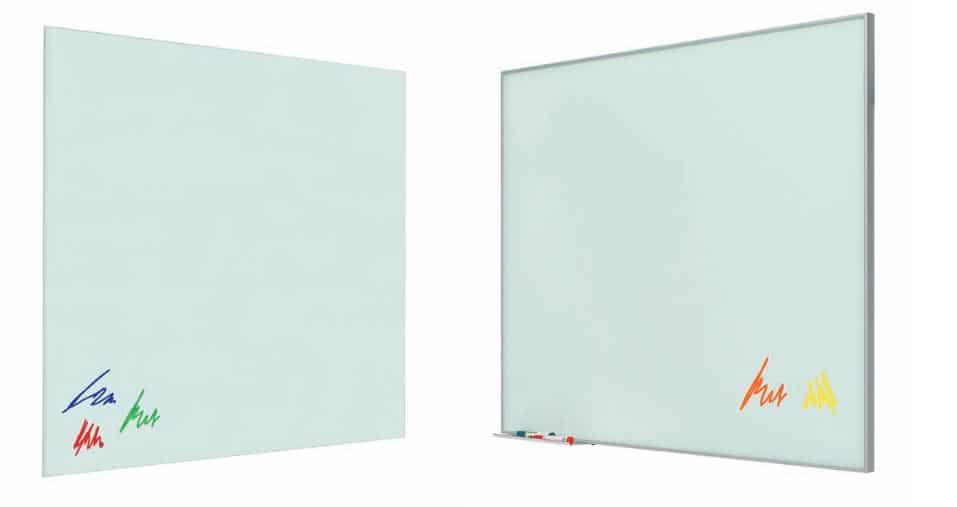 Tableau Blanc En Verre Laminé Mural 2m Mobilier Bureau