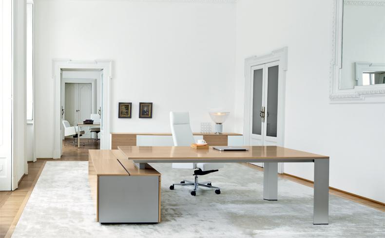 Bureau bois de luxe ono 2m mobilier bureau - Bureau de direction luxe ...