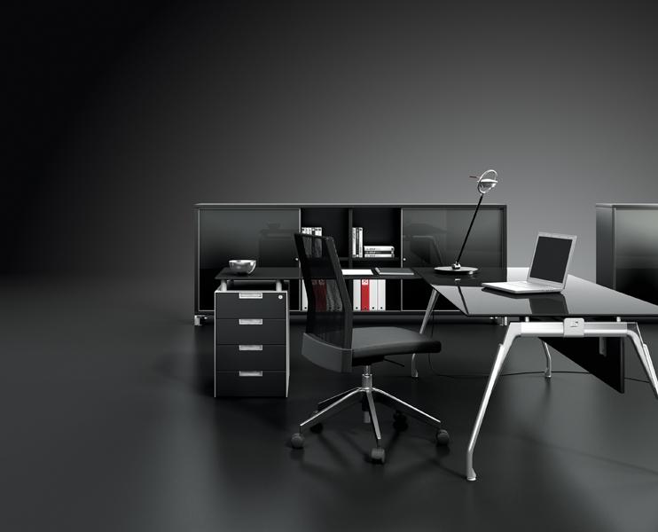 Bureau en verre inspira m mobilier bureau