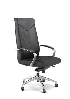 fauteuil en cuir noir oskar