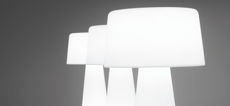 lampadaire contemporain en poly thyl ne time out 2m. Black Bedroom Furniture Sets. Home Design Ideas