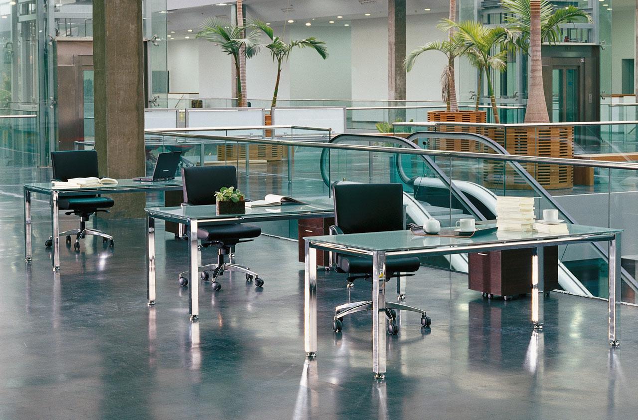 Bureau verre opaque vital bureau en verre professionnel