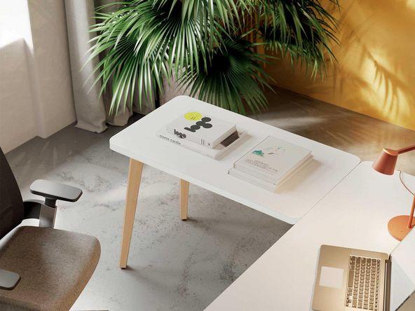 bureau angle retour blanc